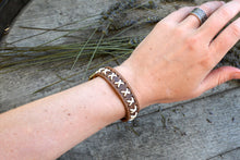 Load image into Gallery viewer, Vintage White Laced X Bracelet