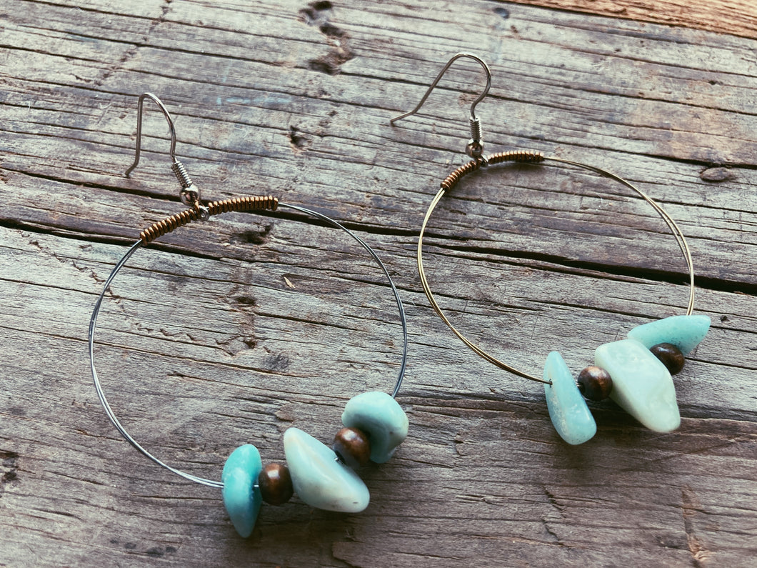 Stones & Hoops Guitar String Earrings