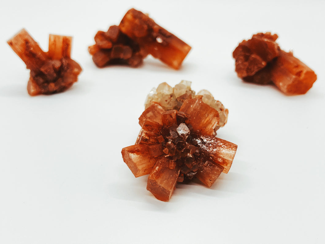 Red Star Aragonite Rosette Crystal