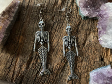 Load image into Gallery viewer, Mermaid Skeleton Earrings