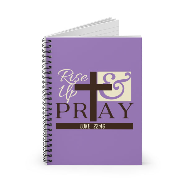 Rise Up & Pray Spiral Notebook - Ruled Line