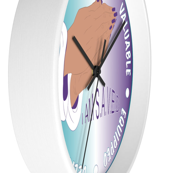 I AM S.A.V.E.D. Wall clock