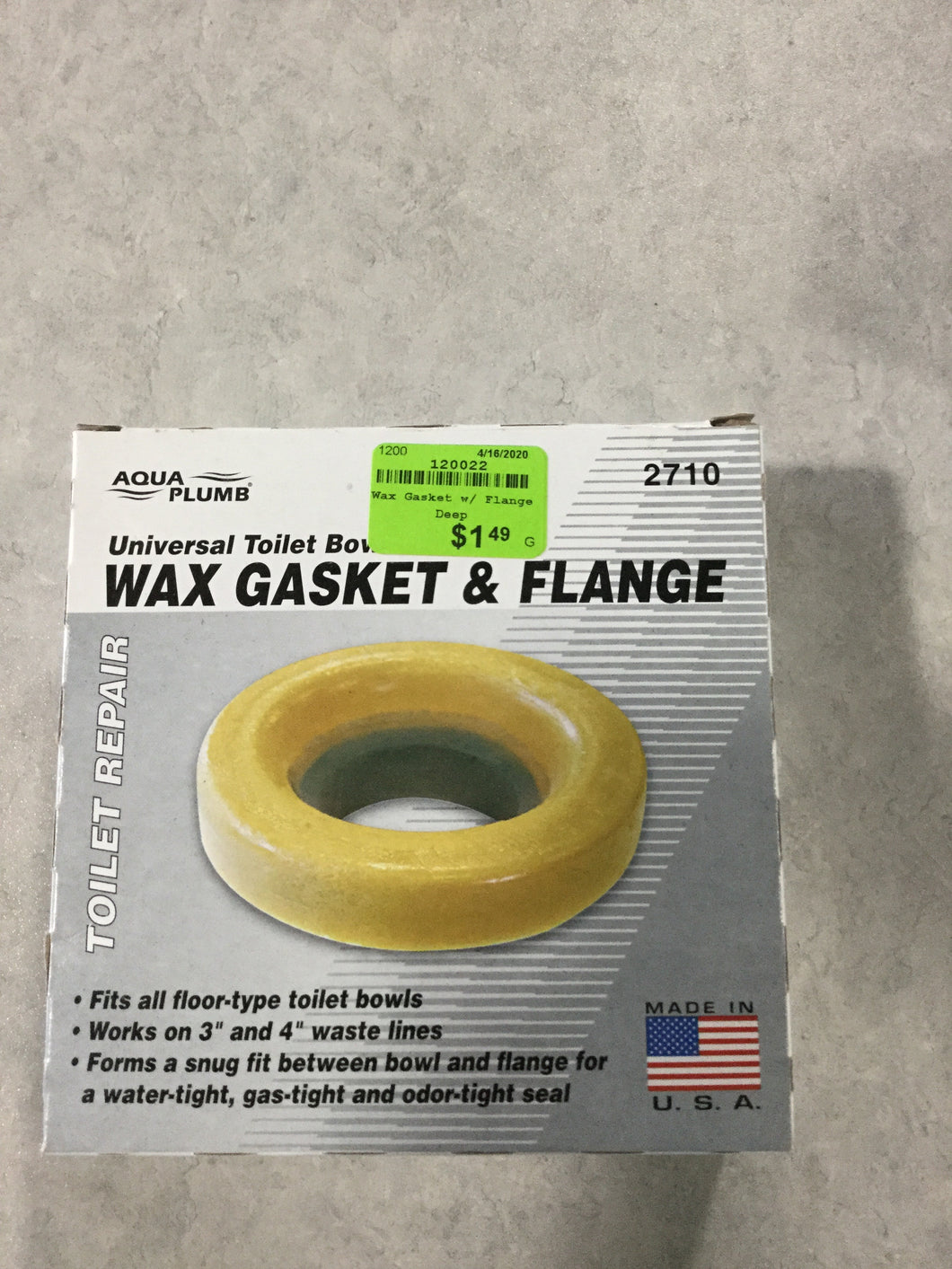 Wax Gasket with Flange Deep at ReStore WEST