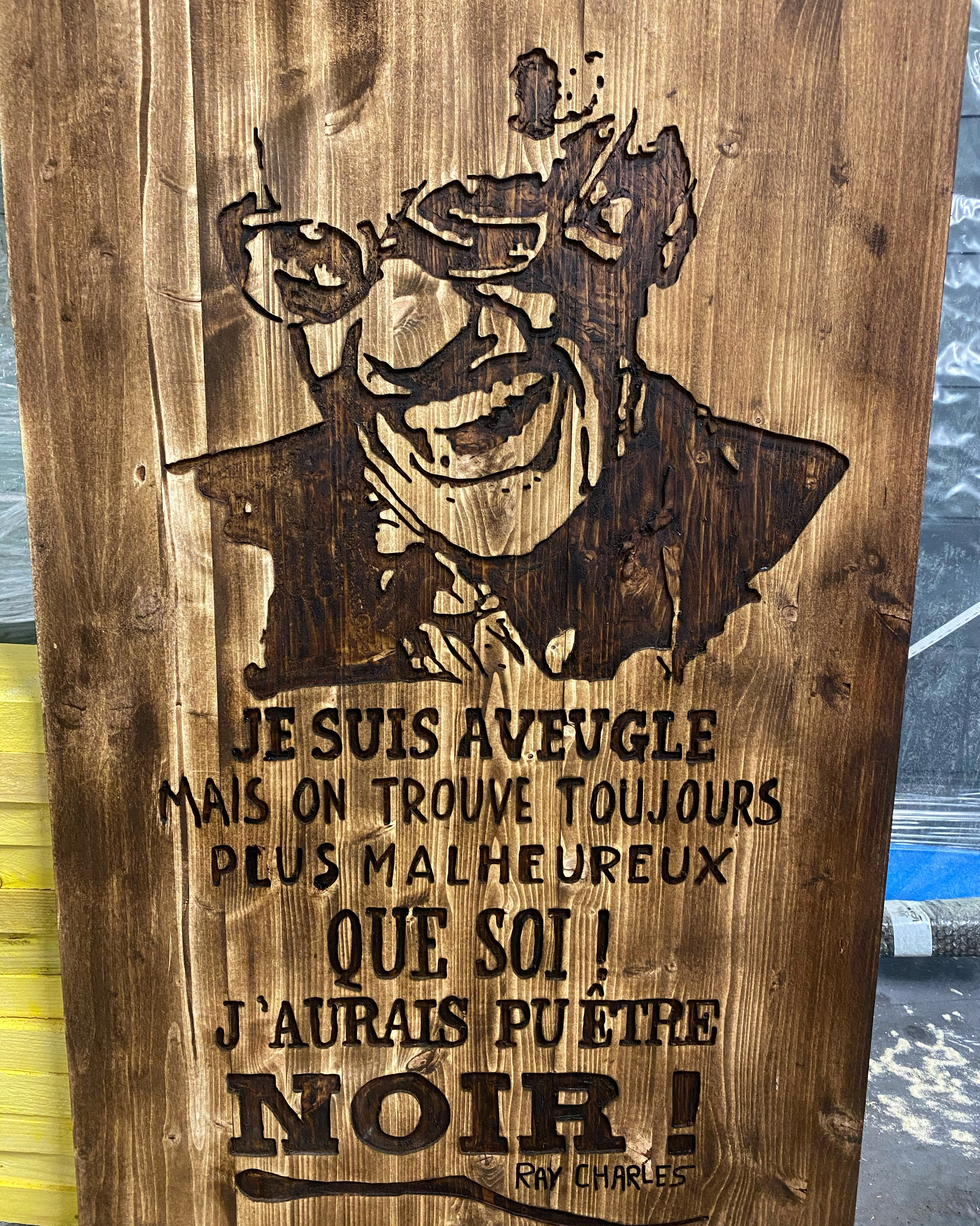 Tableau décoratif Ray Charles.