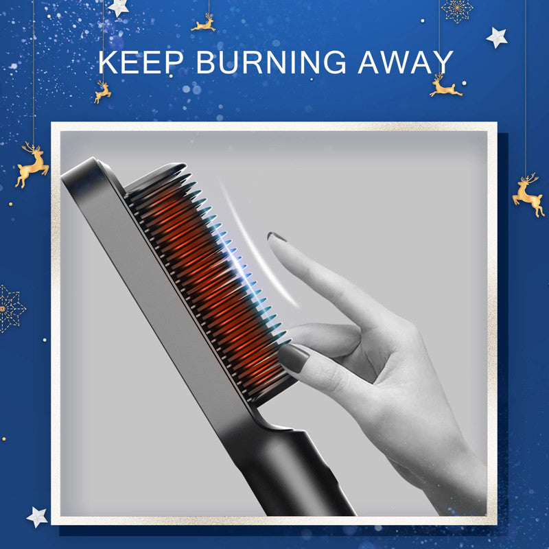 Hair Straightener Brush -20s Fast Heating & 5 Temp Settings & Anti-Scald, Perfect for Professional Salon at Home