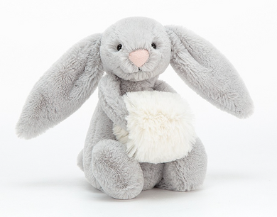 Bashful Grey Snow Bunny- Small