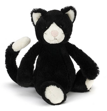 Bashful Black & White Kitten- Medium