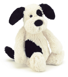 Bashful Black & Cream Puppy- Medium