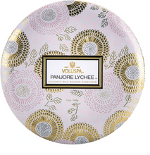 Load image into Gallery viewer, Panjoree Lychee 3-Wick Tin (Limited Edition)