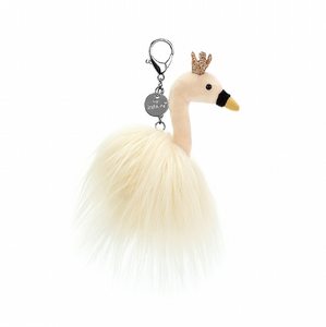 Fancy Swan Bag Charm
