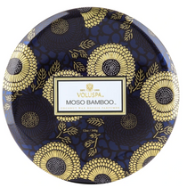 Load image into Gallery viewer, Moso Bamboo 3 Wick Tin Candle