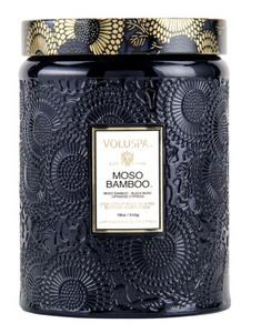 Moso Bamboo Large Jar Candle