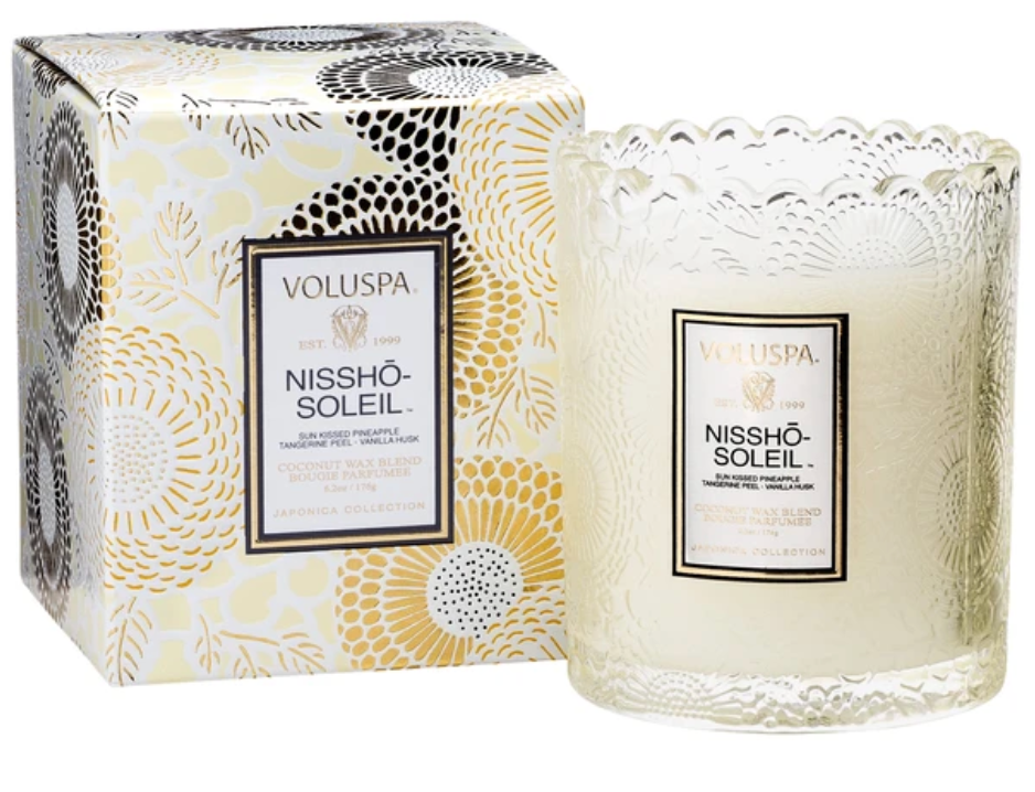 Nissho Soleil Scalloped Edge Candle