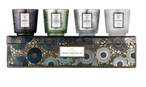 Cool Tones Pedestal 4 Candle Gift Set