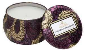 Santiago Huckleberry Petite Tin Candle