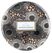 Load image into Gallery viewer, Yashioka Gardenia 3 Wick Tin Candle