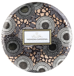 Yashioka Gardenia 3 Wick Tin Candle