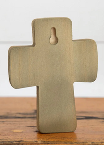 Wood Cross Lg With God All Things