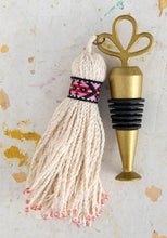 Load image into Gallery viewer, Natural Red Beaded Tassel Stopper