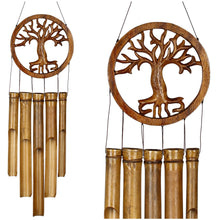 Load image into Gallery viewer, Tree of Life Bamboo Chime