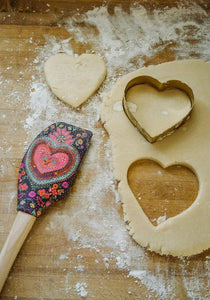Spatula & Heart Shaped Cookie Cutter