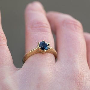 Vesta ring - 1.075ct Teal Sapphire