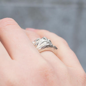 Mountain rings- set of three
