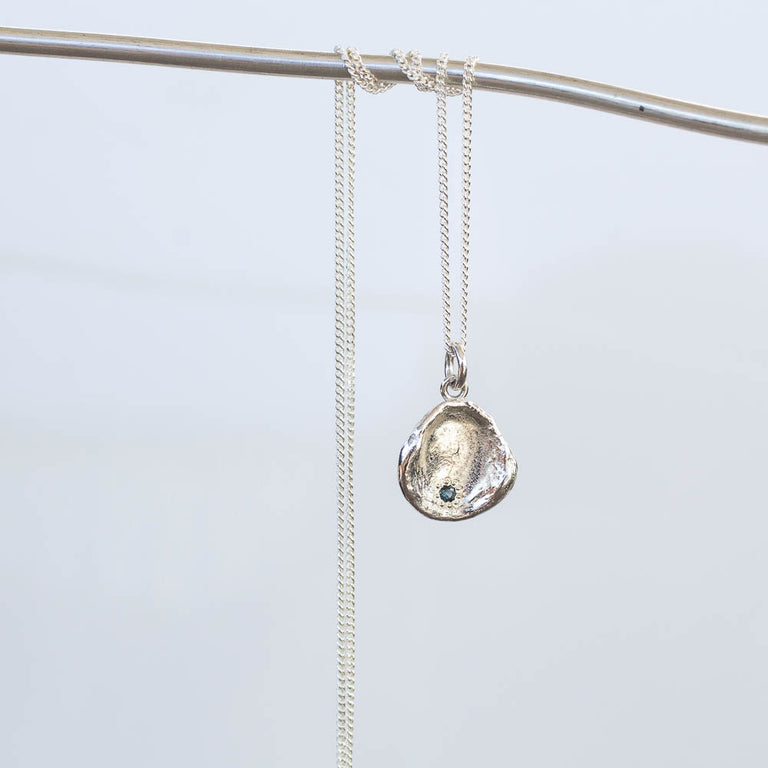 Water Drop Pendant with Sapphire