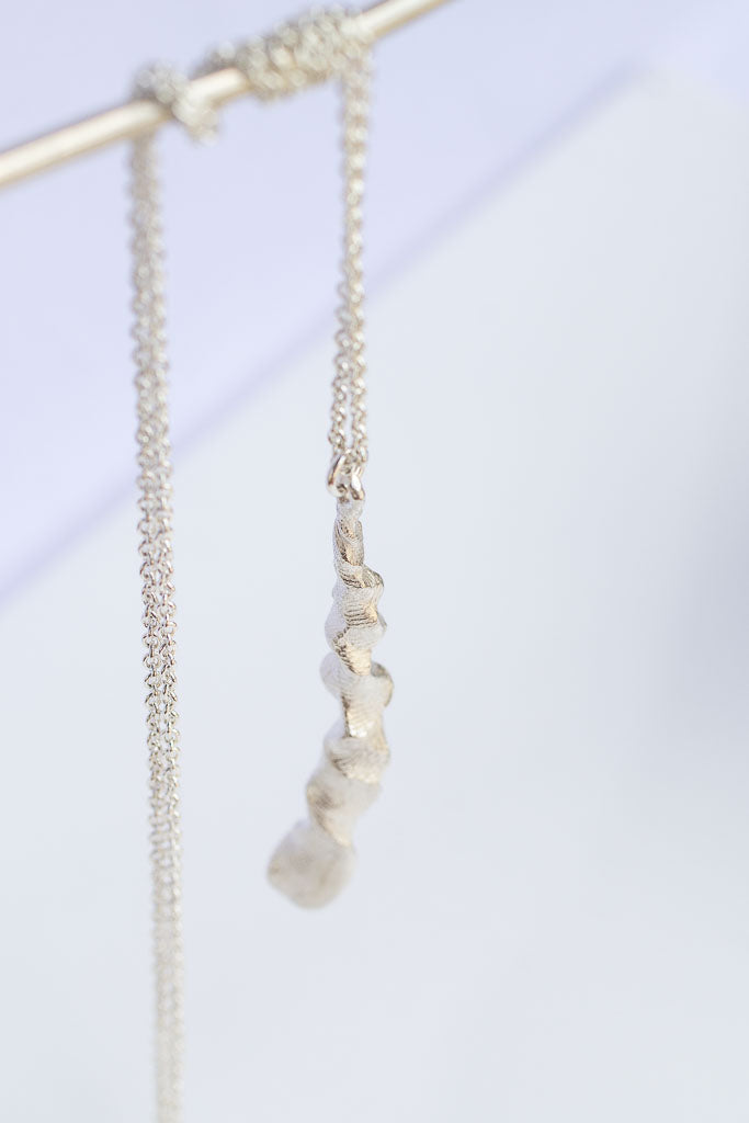 Organic drop necklace