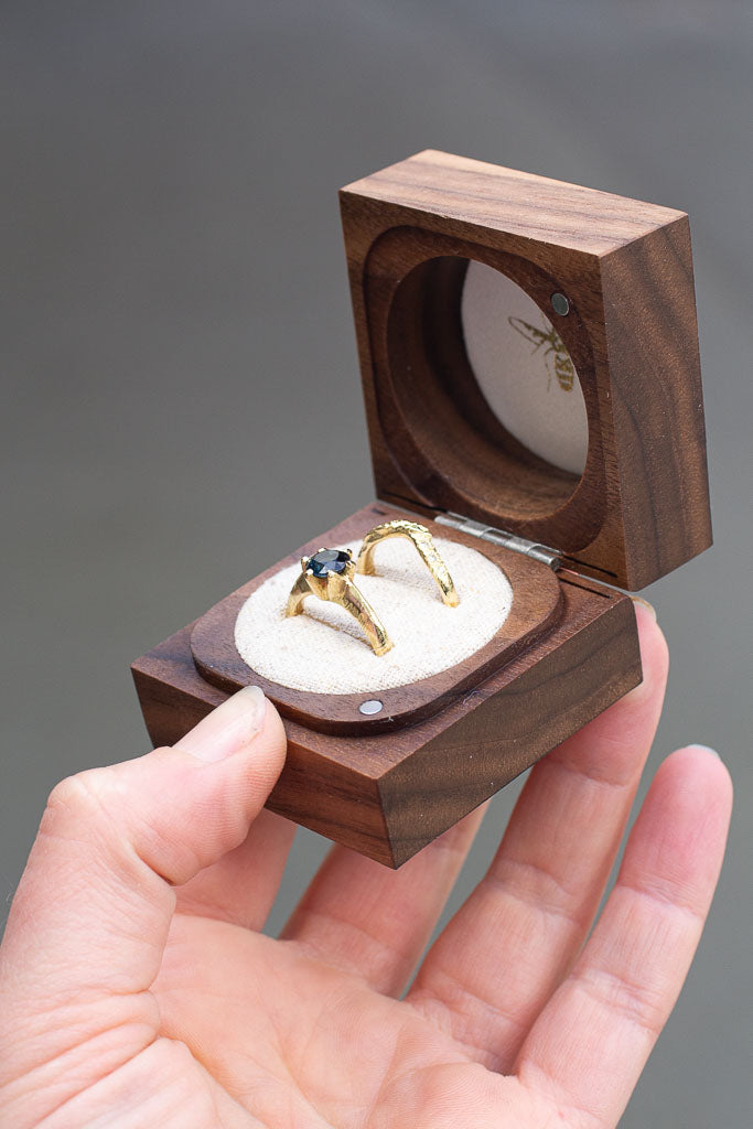 Walnut Ring Box - Double