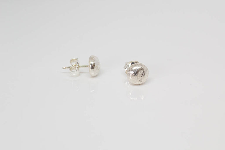 Pebble studs - sterling silver