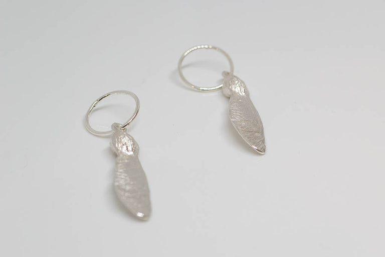 Sycamore Hoop Earrings - Sterling Silver