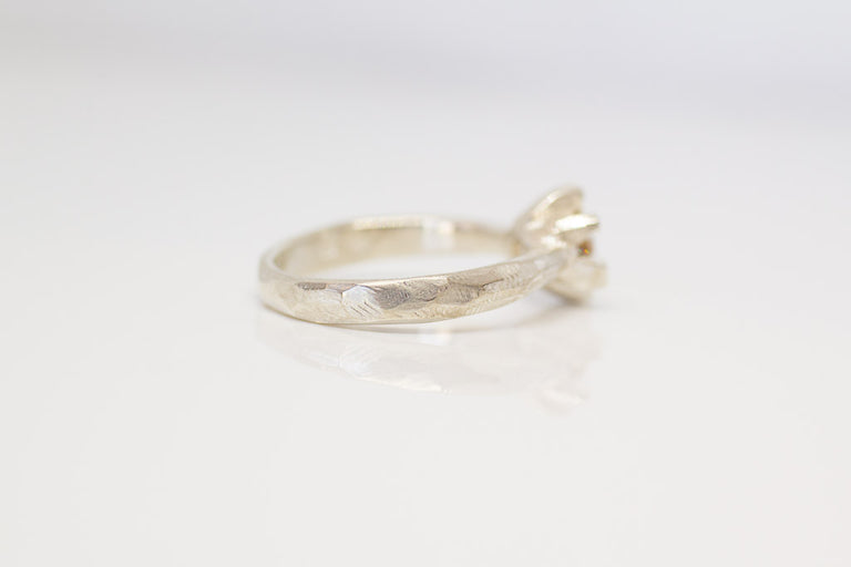 Sol Ring- Sterling silver and Australian zircon