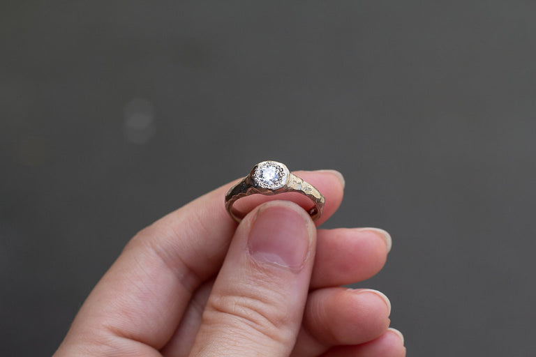 Spring Ring - 18ct white gold, .37ct white diamond