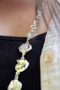 Water drop long chain necklace
