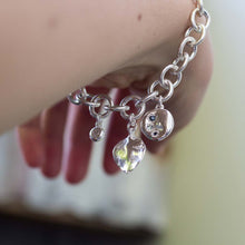 Charm Bracelet - water drops and ramarama leaf