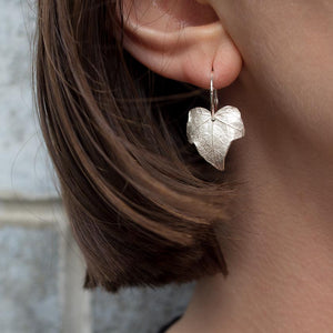 Ivy Leaf Hoop Earrings