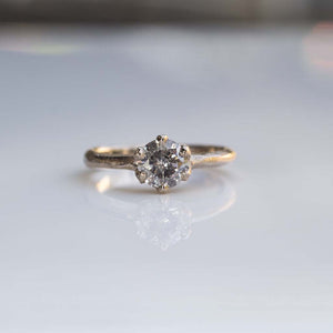 Vesta Ring - 1.02ct Salt-and-pepper diamond