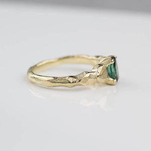 Thalia Ring- 14ct yellow gold, set with a .87ct oval green tourmaline