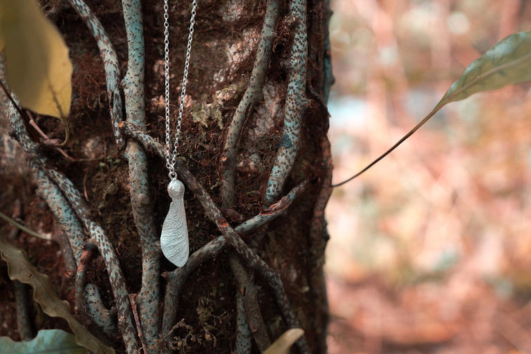 Sycamore seed necklace