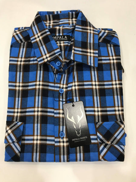 Impala Open Front Flannelette Shirt IM2002OF