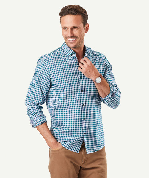 Gazman Tailored Oxford Check LSHW31035T