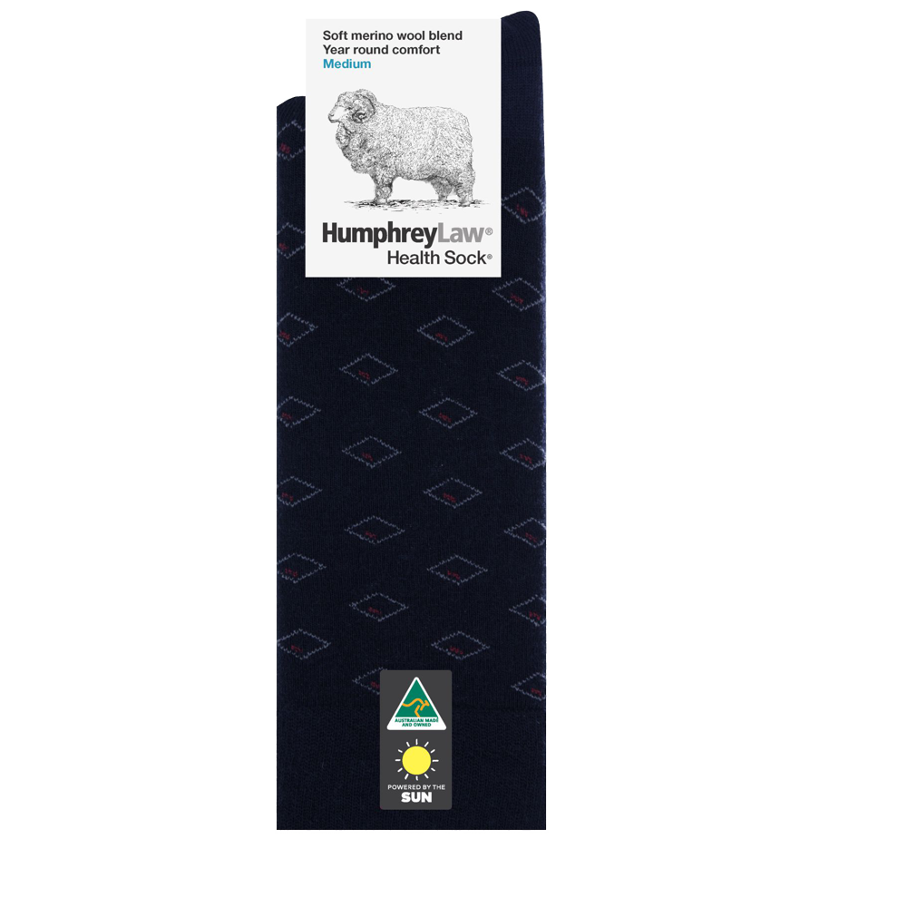 Humphrey Law 60% Fine Merino Wool Patterned Health Sock® Style 85C