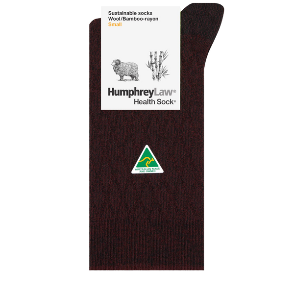 Humphrey Law Sustainable Wool/Bamboo-Rayon Sock Style 93C