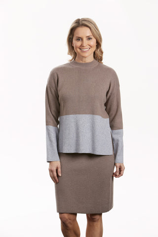 Bella Colour Blocked Pullover FB0408