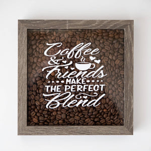 COFFEE & FRIENDS SHADOW BOX - HandmadeSask