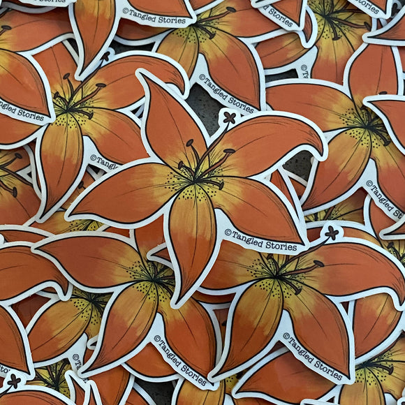 Prairie Lily Waterproof Sticker - HandmadeSask