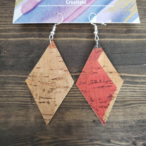 Diamond Cork Earrings - HandmadeSask