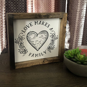 Small- Family means love - HandmadeSask