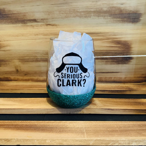 You Serious Clark Glitter Stemless - HandmadeSask